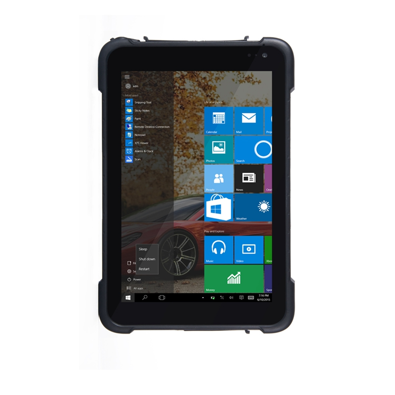 8 inç Windows 10 ev 2.4G + 5.8G dual band WIFI Sağlam Endüstriyel Tablet PC
